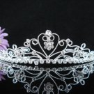 Opera Hair accessories ;Bridesmaid Tiara;Bridal Veil ;Silver Sweetheart Bride Headpiece#583