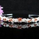 Opera Hair accessories ;Bridesmaid Tiara;Bridal Veil ;Silver Butterfly Bride Headpiece#696y