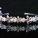 Opera Hair accessories ;Bridesmaid Tiara;Bridal Veil ;Silver Floral Bride Headpiece#699pu