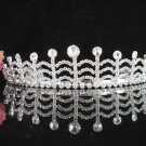 Bridal Veil ;Opera Hair accessories ;Bridesmaid Tiara;Fancy Silver Bride Headpiece#1437