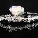 Bridal Veil ;Opera Hair accessories ;Bridesmaid Tiara;Fancy Silver Bride Headband #4884
