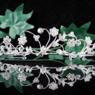 Bridal Veil ;Opera Hair accessories ;Bridesmaid Tiara;Fancy Floral Silver Bride Headband#531