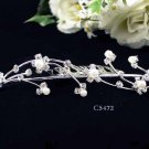Opera accessories ;Bridal Veil ;Wedding Headpiece;Silver Bridesmaid Comb;Teen girl Tiara #5472s
