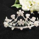 Silver Comb;Floral Bride Tiara;Wedding tiara;Fashion Bridesmaid Hair accessories;Bridal Comb#06
