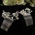 Silver Combs;Teen Girl Comb ;Bride Tiara;tiara;Fashion Bridesmaid Hair accessories;Bridal Comb#2460