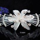 Opera Tiara;Bridal Comb; Silver Teen Girl Comb ;Bride Tiara;Bridesmaid Hair accessories #2889