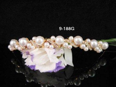 Opera Tiara;Bridal Comb; Golden Teen Girl Comb ;Bride Tiara;Bridesmaid Hair accessories #188G