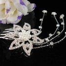 Bridesmaid Hair accessories ;Opera Tiara;Bridal Comb; Silver Teen Girl Comb ;Bride Tiara#707s