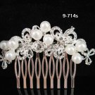 Bridesmaid Hair accessories ;Opera Tiara;Bridal Comb; Silver Teen Girl Comb ;Bride Tiara#714s
