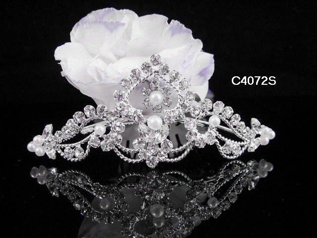 Bridesmaid Hair accessories ;Opera Tiara;Bridal Comb; Silver Teen Girl Comb ;Bride Tiara#4072s