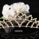 Bridesmaid Hair accessories ;Opera Tiara;Bridal Comb;Golden Teen Girl Comb ;Bride Tiara#5707g