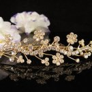 Bridesmaid Hair accessories ;Opera Tiara;Bridal Comb;Golden Teen Girl Comb ;Bride Tiara#7188g