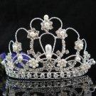 Bridesmaid Hair accessories ;Opera Tiara;Bridal Comb;Silver Teen Girl Comb ;Bride Tiara#2026