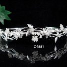 Floral Silver Tiara ;Bridal Headband; Bridesmaid accessories ;Bride Tiara;Teen Girl Headband#4881