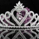 Sweetheart Silver Tiara ;Birthday 15 or 16 Headpiece ;Occasion Tiara; Fashion Accessories#1035