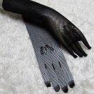Occasion Elbow Gloves; Fashion Accessories;Crochet Black Bridal Gloves;Wedding Bride Accessories#80