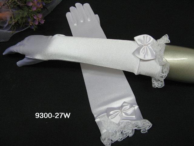 Elbow Gloves; Fashion Accessories;satin white lace Bridal Gloves;Wedding Bride Accessories#27w