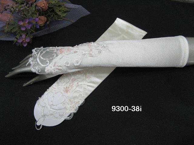 Finger-less Gloves; Fashion Accessories;satin lace Bridal Gloves;Wedding Bride Accessories#38i