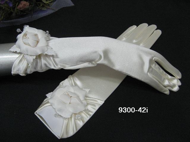 Elbow Gloves; Fashion Accessories;Floral satin Bridal Gloves;Wedding Bride Accessories#42i