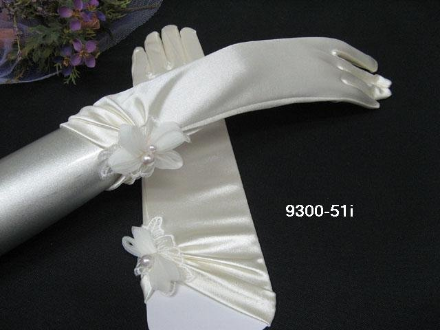 Elbow Gloves; Fashion Accessories;Floral lace satin Bridal Gloves;Wedding Bride Accessories#52i