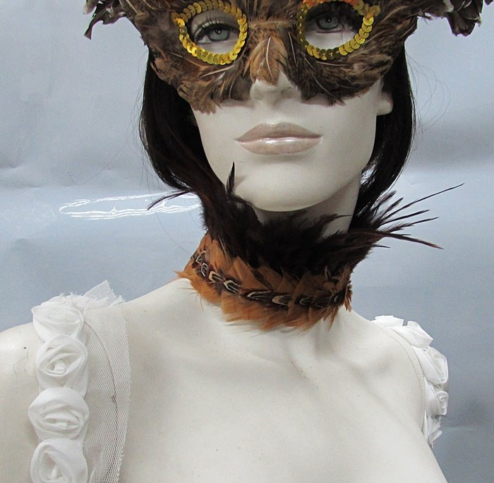Feather collar ;Dramatic Feather Choker;Fluffy Necklace;Bridal or dancer occasion accessories#3