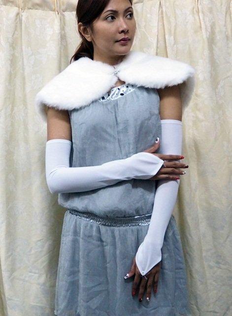 Elbow Gloves; Fashion Accessories;Floral lace satin Bridal Gloves;Wedding Bride Accessories#120w