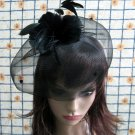 Bridesmaid Accessories;Wedding Hat; Opera Fascinator;Handmade Occasion Hat#21bk