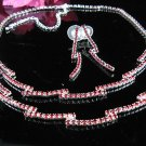 Fancy red Wedding Choker set ;Bridal Tiara;Bridesmaid accessories;Bride Necklace set#2373r