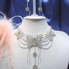 Scallop Huge Wedding Choker set ;Bridal Tiara;Bridesmaid accessories;Bride Necklace set#73