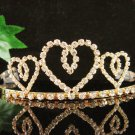 Golden Wedding Headpiece ;Opera Tiara;Bridesmaid Hair accessories;Bridal Bride regal#8236g