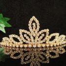 Glamour Golden Wedding Headpiece ;Opera Dancer Tiara;Bridesmaid Hair accessories#8241g