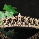 Glamour Golden Wedding Headpiece ;Opera Dancer Tiara;Bridesmaid Hair accessories#8776g