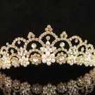 Glamour Golden Wedding Headpiece ;Opera Dancer Tiara;Bridesmaid Hair accessories#3053g