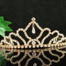 Sweetheart Golden Wedding Headpiece ;Opera Dancer Tiara;Bridesmaid Hair accessories#816g
