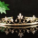 Fancy Golden Wedding Headpiece ;Opera Dancer Tiara;Bridesmaid Hair accessories#2970g