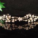 Delicate Golden Wedding Headband ;Opera Dancer Tiara;Bridesmaid Hair accessories#4962g
