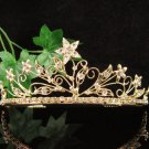 Floral Golden Wedding Headband ;Opera Dancer Tiara;Bridesmaid Hair accessories#5664g