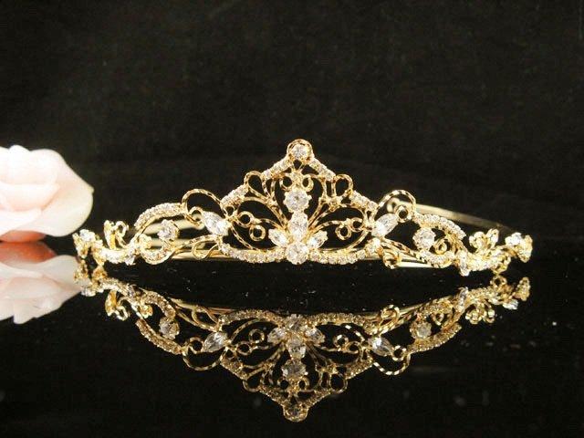 Fancy Golden Wedding Headband ;Opera Dancer Tiara;Bridesmaid Hair accessories#5851g