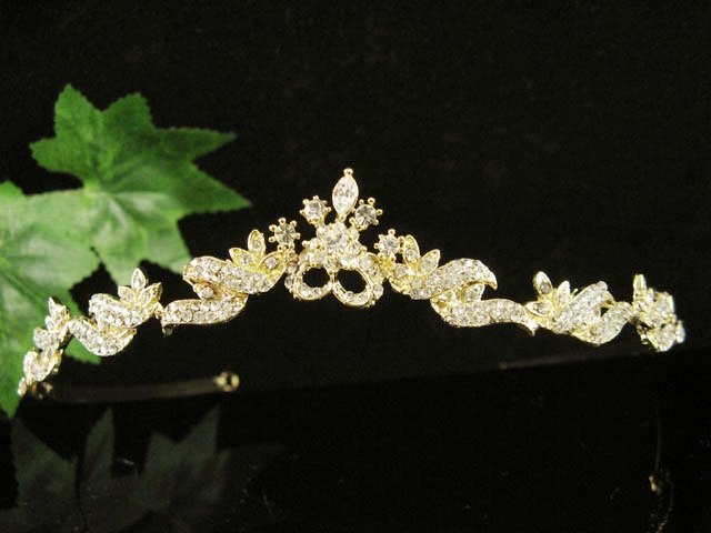 Fancy Golden Wedding Headband ;Opera Dancer Tiara;Bridesmaid Hair accessories#637g