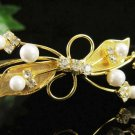 Fancy Golden Wedding Headband ;Opera Dancer Tiara;Bridesmaid Hair accessories#1606g