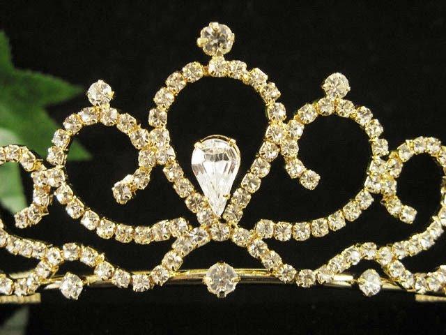 Fancy Golden Wedding Headband ;Opera Dancer Tiara;Bridesmaid Hair accessories#63g