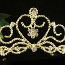 Glamour Golden Wedding Headpiece ;Opera Dancer Tiara;Bridesmaid Hair accessories#977g