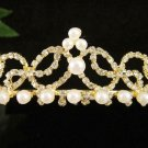 Floral Glamour Wedding Headpiece ;Crystal Bride Regal Tiara;Party Occasion Hair accessories#1411g