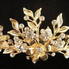 Fancy Floral Wedding Headpiece ;Crystal Bride Regal Tiara;Party Occasion Hair accessories#6571g