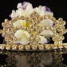 Cute Floral Wedding Headpiece ;Crystal Bride Regal Tiara;Party Occasion Hair accessories#8522g
