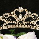 Cute Floral Wedding Headpiece ;Crystal Bride Regal Tiara;Party Occasion Hair accessories#8760g