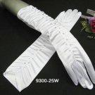 elegance White bridal gloves; rhinestone wedding gloves;opera;dancer Accessories #25w
