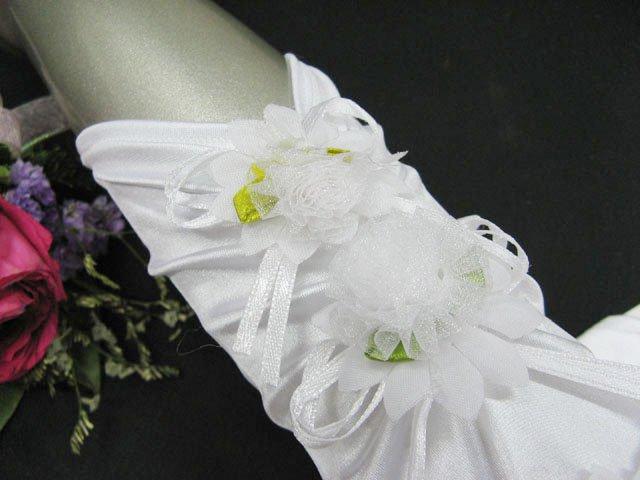 Satin Floral elbow bridal gloves;fingerless wedding gloves;opera;dancer Accessories #72w