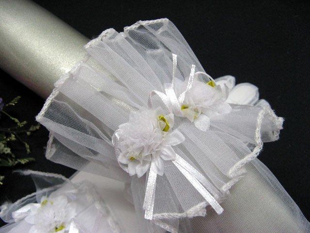 fancy white wrist bridal gloves;floral organza wedding gloves;opera;dancer Accessories #76w
