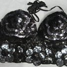 Handmade Sexy sequin Beaded Halter; floral hippie top; fashionable beaded dancing party belly top#gy